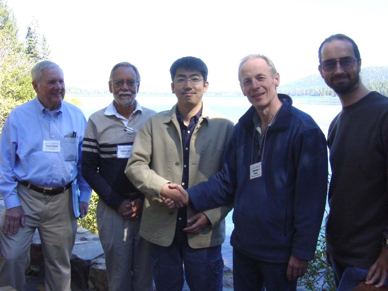 L-R: Don Helinski, Stephen Farrand, Masahiro Sota, Chris M. Thomas, Chris D. Thomas